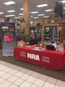 NRA Membership drive at Scheels